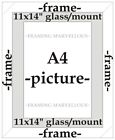 Urban Bronze Effect Photo Picture Frame with White Mount - Choose size