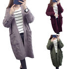 Women Ladies Winter Twist Knit Long Cardigan Sweater Loose Coat Warm Knitwear