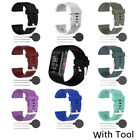 For Polar V800 Sport Fitness Watch +Tool Silicone Replacement Wrist Band Strap