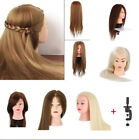 Salon Hairdressing Training Head Real Human Hair Long Mannequin Doll + Clamp UK