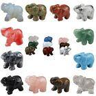 Quartz Gemstone Elephant Animal Carve Statue Decor Figurine Amulet Vintage Reiki