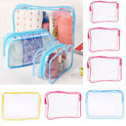 Waterproof Clear Cosmetic Storage Bags Packing Case Luggage Organizer Pouch PVC