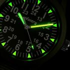 INFANTRY Mens Quartz Wrist Watch Luminous Sport Military Army Green Nylon Canvas image