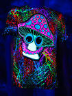 "PSYWORK Schwarzlicht T-Shirt Unisex Neon ""Happy Shroom"" Magic Mushroom Goa Party"
