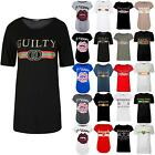 Womens Ladies Casual Round Neck Bonjour Curved Hem Turn Up Sleeve T Shirt Top
