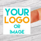 Custom Logo 40mm Square Personalised Business/Company Name Labels/stickers