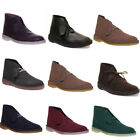 Clarks Originals Desert Cola Mens Suede Leather Classic Chukka Boots Uk Size