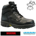 MENS WOLVERINE S3 WATERPROOF SAFETY STEEL TOE CAP COMBAT WORK ANKLE BOOTS SHOES