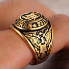 1PC Punk Ring Military Men's Stainless steel Veteran Classic Engrave Size:7-13