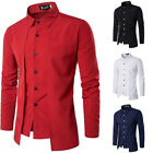 Office Work Men Luxury Casual Stylish Slim Casual Shirts Tops Blouses T shirt