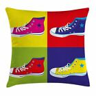 East Urban Home Teen Room Decor Retro Shoes Square Pillow Cover