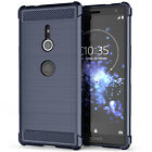 Sony Xperia XZ2 Carbon Fibre Best TPU Silicone Gel Case Protection Phone Cover <br/> Shock Absorbing Stylish Case | Instock | Fast Delivery