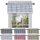 "Window Curtain Valance Drape Checked Plaid Gingham Kitchen (58"" W x 14"" L)"