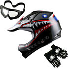 Youth Motocross Helmet BMX Bike Kids Star Matt Black Blue Green Orange Red PINK