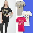 Ladies Vogue Slogan Print Round Neck Short Sleeve Womens Tee Top T-Shirt Sizes