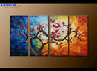 Large Abstract Oil Painting Canvas Contemporary Wall Art Floral Red Decor FY3647