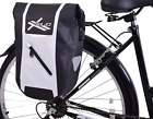 XLC Low Rider Waterproof Bike Pannier Roll Top Luggage Bag 9L or 18L Black/White
