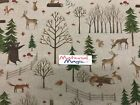100% cotton designer woodland fabric 140cm wide foxes bunting, craft, jungle