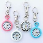 Men Women's Fashion Metal Key Ring Keychain Pendant Pocket Quartz Watch GL81K image