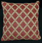 we602a Reddish Brown Check Chenille Throw Pillow Case/Cushion Cover*Custom Size