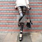 Gilr Sexy Lace Faux Leather Leggings