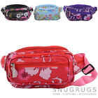 Ladies / Womens Canvas Style Travel / Holiday Bum Bag / Waist Bag Floral Design