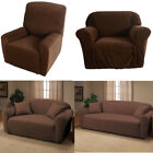Hot Sofa Stretch Slipcover with Chair/Loveseat/Sofa/Recliner Style Chocolate US