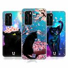 HEAD CASE DESIGNS CATS AND BLOSSOMS HARD BACK CASE FOR HUAWEI PHONES 1
