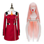 DARLING In The FRANXX 02 ZERO TWO Outfit Dress Cosplay Costume / Wig