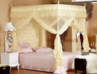 4 Corner Post Bed Canopy Mosquito King Queen Twin Sizes Netting Or Frame(Post) image