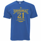 Birthday Mens T-Shirt Original 21 Years Aged To Perfection Distressed Print