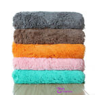 Throw Blanket Modern Faux Fur Fleece Modern Cozy Super Soft Plush Solid 60 X 80