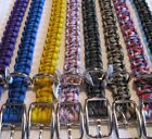 "Custom Handmade 14"" (Fits 10"" neck) Adjustable Paracord Dog Collar - Pick Colors"