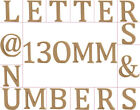 Large 130mm Wooden MDF Capital Letters, Numbers & Symbols