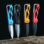 Portable Fold Knife Key Ring Camp Tactical Survival Outdoor Multifunction Tool