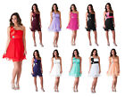 Formal Prom Dress One Shoulder Beaded Bridesmaid Wedding Party 0 - 18