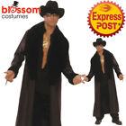 CA696 Trick Daddy Pimp Gangster Mens 20s 70s Groovy Gigolo Jacket Coat Costume