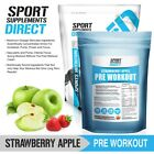 FLAVOURED PRE WORKOUT -  STRAWBERRY APPLE AND TROPICAL PREWORKOUT 250G TO 1KG