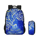 "Elk Deer Printing 17"" Laptop Campus Backpack Trip Knapsack P"