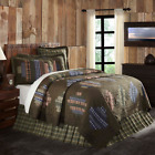 SENECA QUILT SET-choose size & accessories-Cabin Brown Plaid Rustic VHC Brands image
