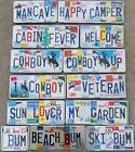 Custom Made License Plate Embossed Letter Sign Wall Hanger