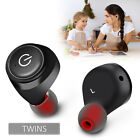 Mini Wireless Bluetooth Twins Earphones Mic True Bass Stereo In-Ear TWS Earbuds