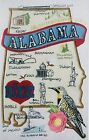 STATE OF ALABAMA BIRD FLOWER CITIES MACHINE EMBROIDERED QUILT BLOCK (HP)