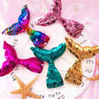 1pc Reversible Sequins Mermaid Tail Wedding Birthday Cupcake Toppers Party decor