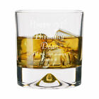 Personalised 21st Birthday Dimple Base Whisky Short Glass Tumbler Engraved Gift