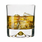 Personalised Large Retirement Whisky Glass 11oz Tumbler Engraved Leaving Gift