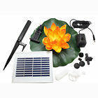 ASC Solar Powered Water Floating Lotus Fountain with Water Pump Three Colors