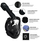 M8018 Snorkel Scuba Full Face Dry Diving Mask For GoPro Swimming Underwater