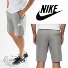 Nike Men's Advance 15 Fleece Shorts Grey Jersey Sports Shorts