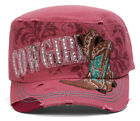 TopHeadwear Cowgirl Boots Distressed Cadet Cap
